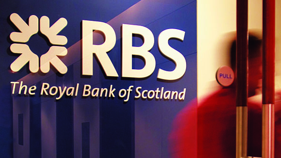 RBS logo sign in branch