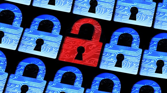 Cybersecurity and online fraud padlocks