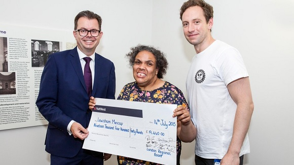 RBS Mencap charity donation cheque