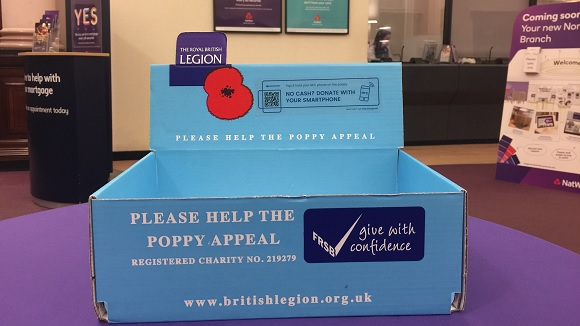 Poppy Appeal donations box