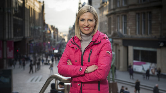 Jackie Brambles, presenter of the STV's Stopping Scotland's Scammers series. (Picture courtesy of STV Press Office).