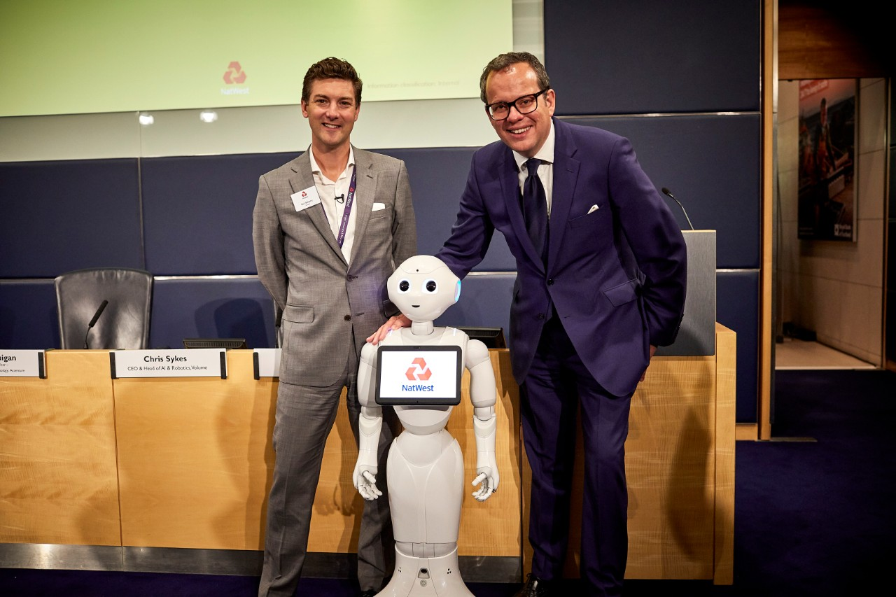 A special guest, Pepper the Robot, joined in the panel debates and spoke to attendees at NatWest's Technology Conference.