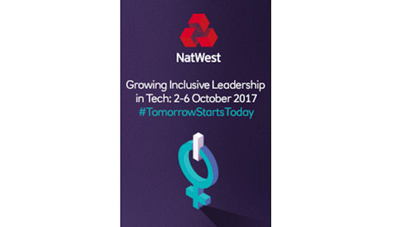 NatWest banner promoting the Growing Inclusive Leadership in Tech events
