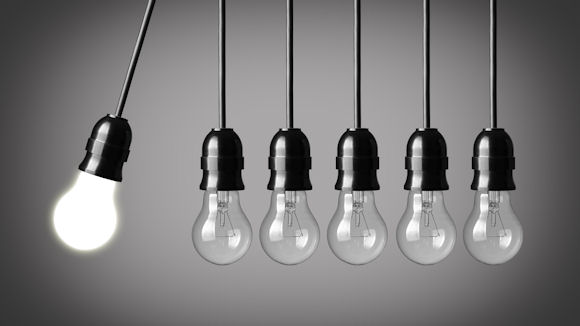lighbulbs with the concept of innovation