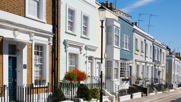 a row of London prime properties