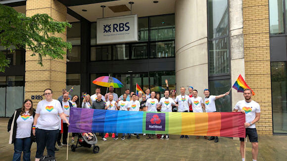 RBS staff at Birmingham Pride 2018