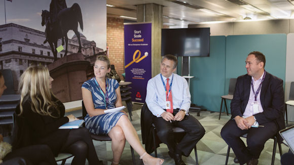 NatWest CEO of Personal & Business Banking Les Matheson met some of the entrepreneurs at the London Entrepreneur Accelerator Hub