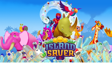 Visual of NatWest's educational game 'Island Saver'